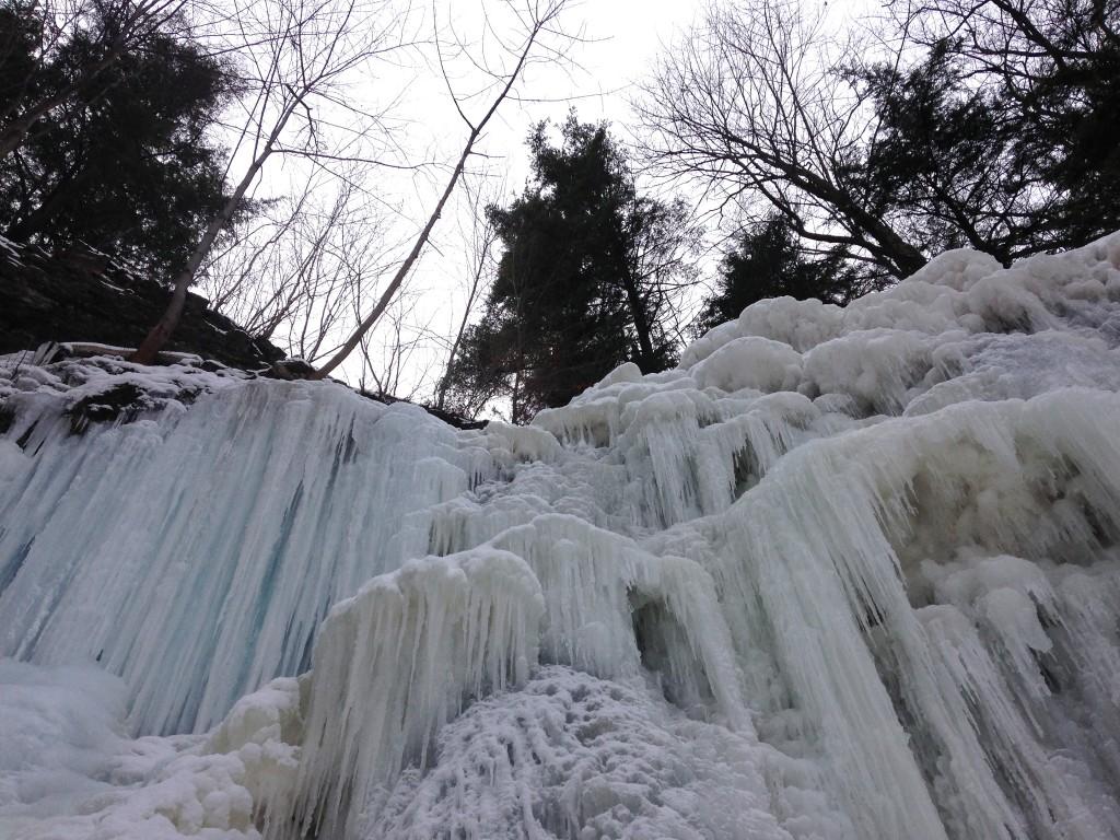 Tiffany Falls in winter