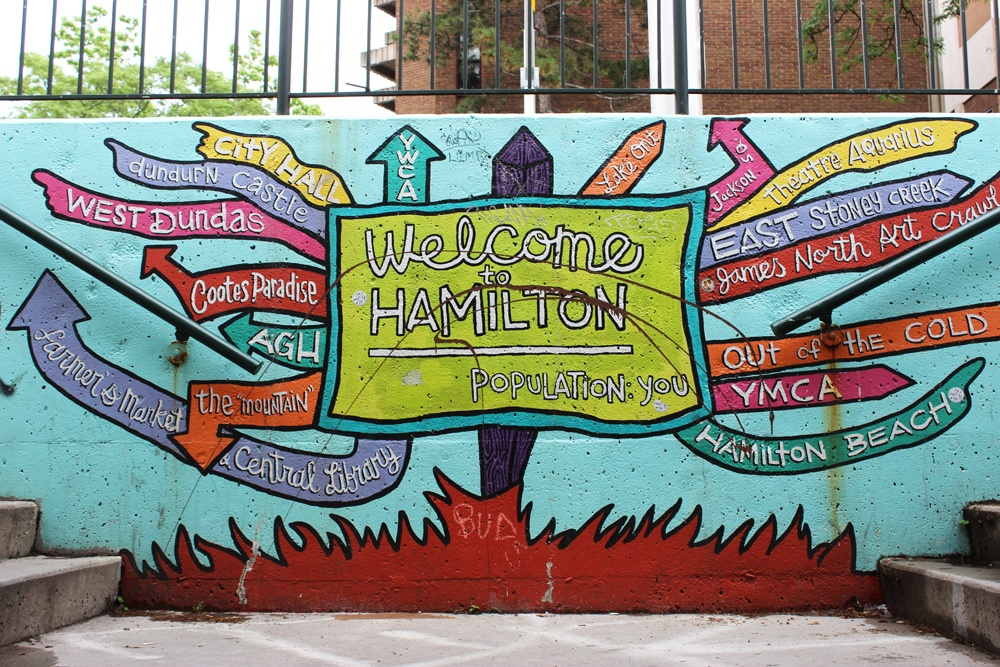 Murals - Welcome to Hamilton - photo credit to Daily Hive